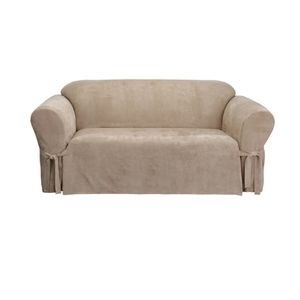 Surefit Soft Suede Furniture Box Cushion sofa